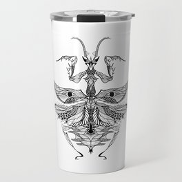 MANTIS beetle psychedelic / zentangle style Travel Mug