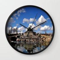 copenhagen Wall Clocks featuring fountain copenhagen by  Agostino Lo Coco