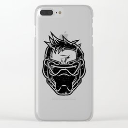 Over Watch Soldier: 76 (Black) Clear iPhone Case