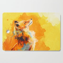 Blissful Light - Fox portrait Cutting Board