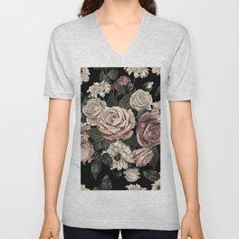 Rose Flower Pattern  Unisex V-Neck