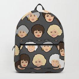 Golden Girls Grey Pop Art Backpack
