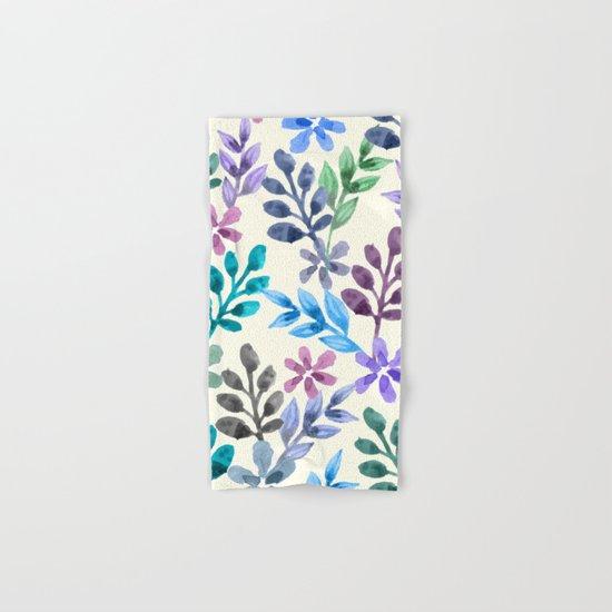 Watercolor Floral Pattern  Hand & Bath Towel