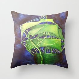 Flying Dutchman Throw Pillow