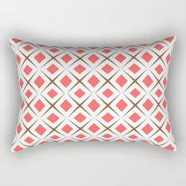 Chocolate Brown + Coral:  Pattern No.1 Rectangular Pillow