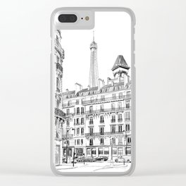 Parisian street - Architectural illustration Clear iPhone Case