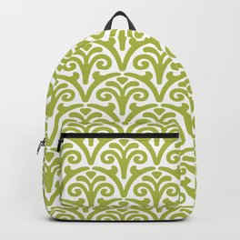 Floral Scallop Pattern Chartreuse Backpack