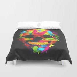 Meduzzle: Colorful Geometry Skull Duvet Cover