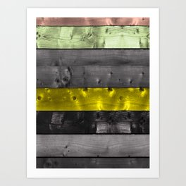 colored wood Art Print