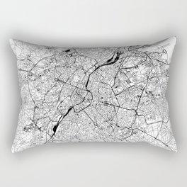 Brussels White Map Rectangular Pillow