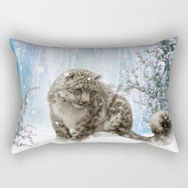 Wonderful snowleopard Rectangular Pillow