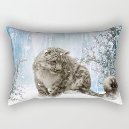 Wonderful snowleopard Rectangular Pillow