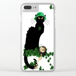 Le Chat Noir - St Patrick's Day Clear iPhone Case