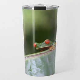 Red eye Frog on leaf Costa Rica Photography Travel Mug