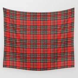 Vintage Plaid Lunchbox Wall Tapestry