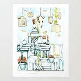 Pretty clutter Art Print