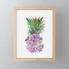 Floral Pineapple 1 Framed Mini Art Print