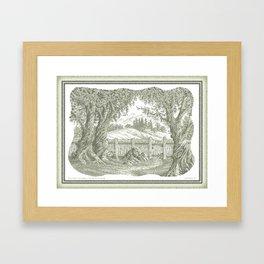 ONCE UPON A EUCALYPTUS VINTAGE PEN DRAWING Framed Art Print