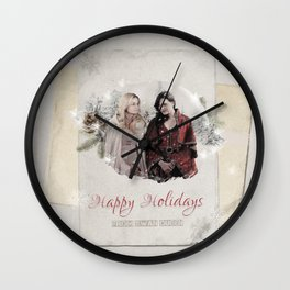OUAT HAPPY HOLIDAYS // Swan Queen Wall Clock