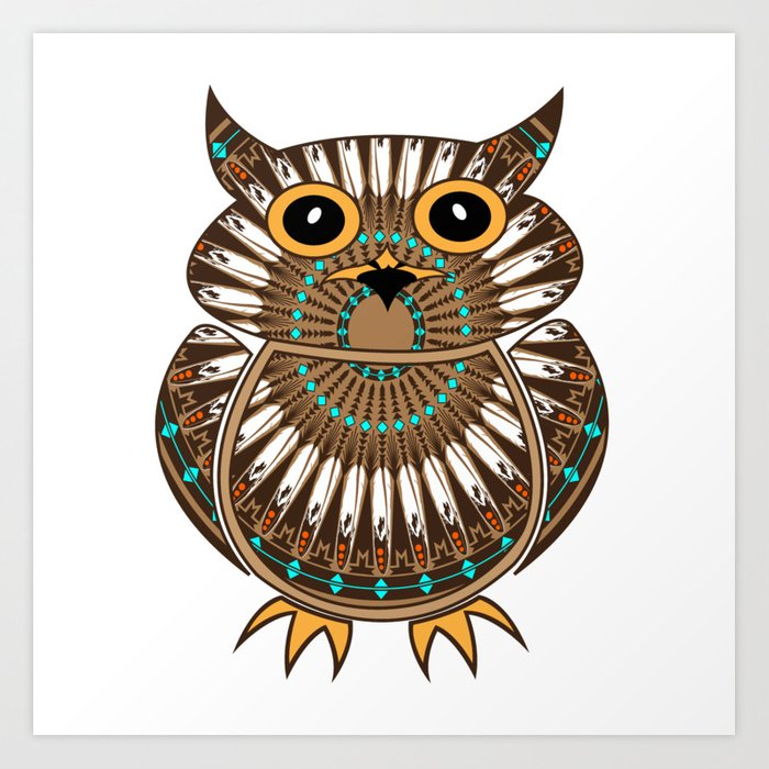 Owl the Messenger Art Print
