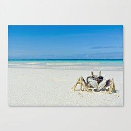 CRAB ON A TROPICAL ISLAND Canvas Print