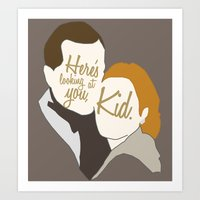 casablanca Art Prints featuring Casablanca by Swell Dame