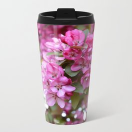 Deep pink blossom Metal Travel Mug