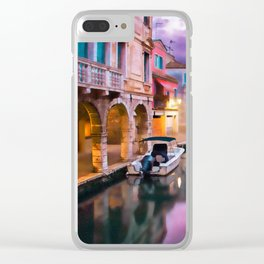 Canals of Venice Clear iPhone Case