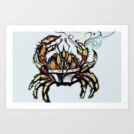 BEWARE :crabs in underwear  Art Print