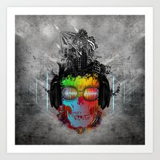 Rebel music Art Print