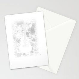 Grunge Guitar Graphic Guitarist Rock Band Musician Stationery Cards