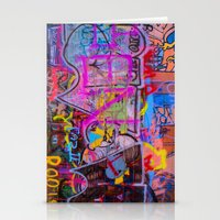 grafitti Stationery Cards featuring Bright Grafitti by davehare