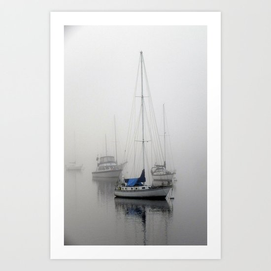 In The Mist of Morro Art Print