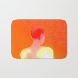 Orange A Bath Mat