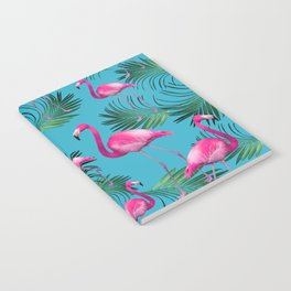 Summer Flamingo Palm Vibes #2 #tropical #decor #art #society6 Notebook