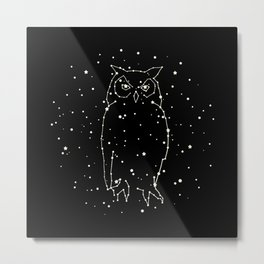Owl Constellation Metal Print