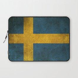 Old and Worn Distressed Vintage Flag of Sweden Laptop Sleeve