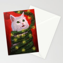 Tinsel Cat Stationery Cards