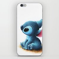 stitch iPhone & iPod Skins featuring Stitch by Patricia Teo