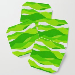 Waves - Lime Green Coaster