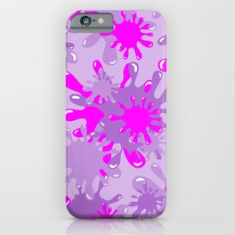 Slime in Lavenders & Pink iPhone Case