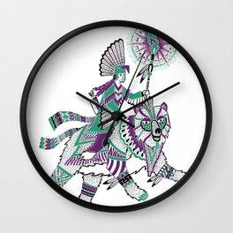 The Bear Rider Wall Clock