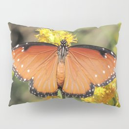 Queen Butterfly on Rubber Rabbitbrush in Claremont CA Pillow Sham
