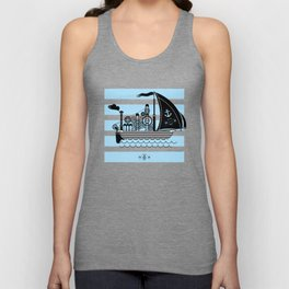 Fantastic steaming ship Unisex Tank Top
