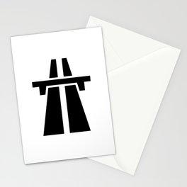 Freeway, Motorway, Autobahn - Black Stationery Cards