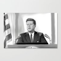jfk Canvas Prints featuring JFK by Darkhorse