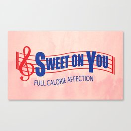 Sweet on you Canvas Print