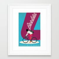 cycling Framed Art Prints featuring Cycling by Carlos Hernandez