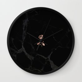 Forever Petal (Black Rose) Wall Clock