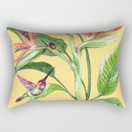 Bird of Paradise Yellow Rectangular Pillow